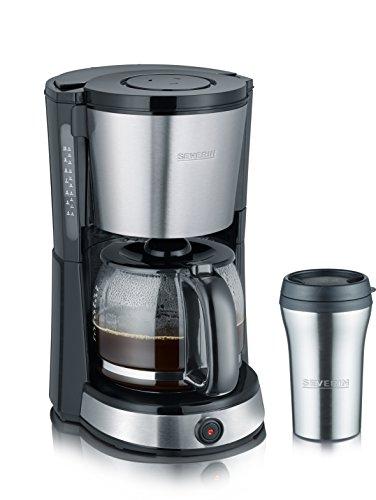 Severin KA 9476 Cafetera con vaso termo de acero inoxidable, 1000 W, N