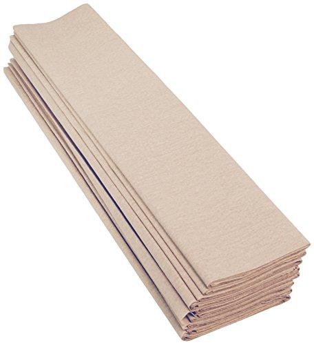 Clairefontaine 903002C Packung mit 10 Bögen Krepppapier, 2,5 x 0,5m, ideal für kreativen Hobbies, 1 Pack, elfenbein (Fotoalbum Elfenbein)
