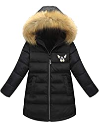 Shengwan Ragazze Invernale Giacca Cappotto Piumino Lungo Antivento Spessore Giacche  con Cappuccio aabdde24247