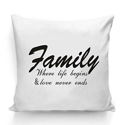 Novadecor Decorative Cotton Ninen Pillow Cover Inspirational Words Quotes Pillow Cover Square Throw Pillow Case Cover Family Pillowcase 18x18 Inches Quotes Series 1 Buy Online In Dominica At Dominica Desertcart Com Productid 54712724