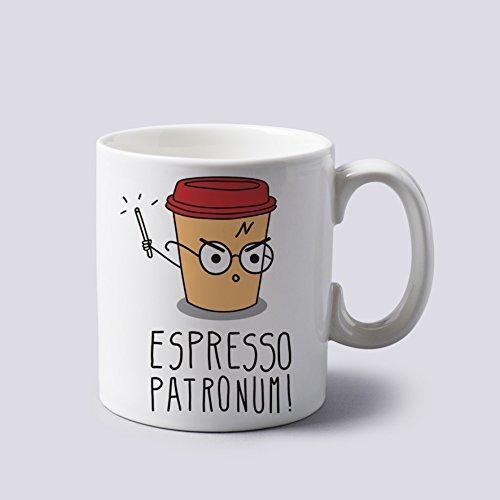 "Acen ""Espresso Patronum Harry Potter-Tazza in ceramica, colore: Bianco, 311,8gram"