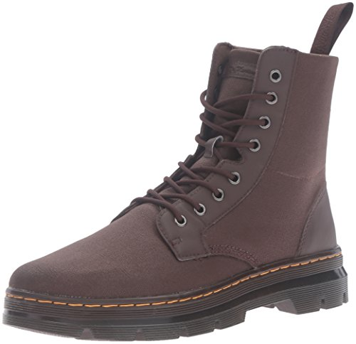 Dr.Martens Womens Combs 8 Eyelet Waxy Brown Canvas Boots 39 EU -