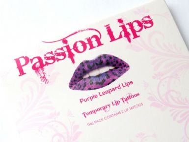 Sticker Lèvre tatouage - PURPLE LEOPARD-lip sticker maquillage bouche, léopard, panthère violet