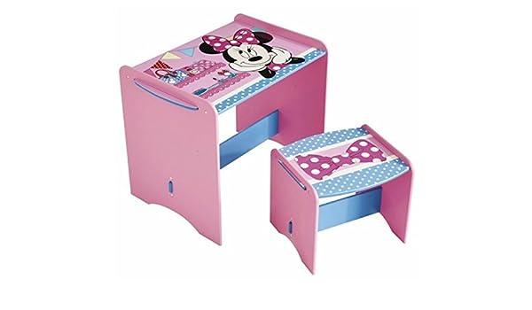 Scrivania In Legno Minnie Mouse : Pegane set scrivania e sgabello per bambini disney minnie colori