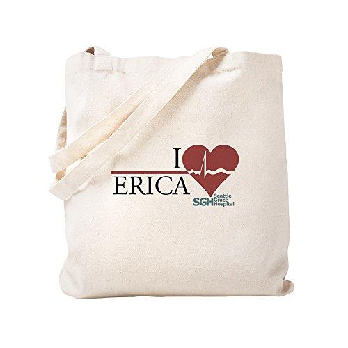 CafePress I Heart Erica - Grey's Anatomy Tragetasche, canvas, khaki, S