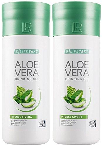 LR LIFETAKT Aloe Vera Drinking Gel Intense Sivera Nahrungsergänzungsmittel (2x 1000 ml)