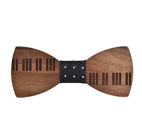 Bella Hölzerne Krawatte Fliege Schleife Fliege Hölzfliege für Herren Klavier Piano Tastatur Mode für Hochzeiten Partei zum Anzug mit Geschenkbox