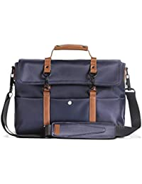 Scarters Premium Splash-Proof Canvas Messenger Bag with Faux Leather Styling for up to 14 inch Laptop/MacBook: The Retro