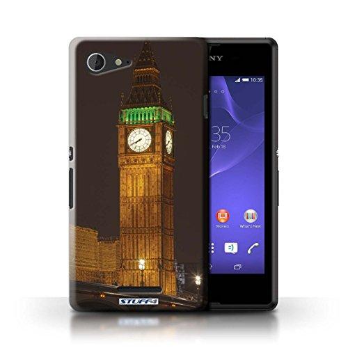 Kobalt® Imprimé Etui / Coque pour Sony Xperia E3 / Abandonné Bus conception / Série Londres Angleterre Big Ben