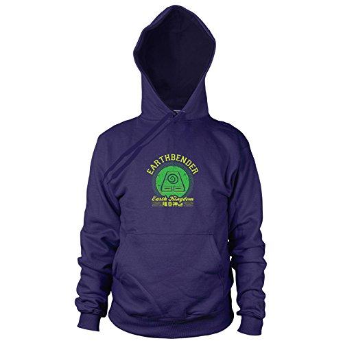 (Planet Nerd Earthbender Kingdom - Herren Hooded Sweater, Größe: S, Dunkelblau)