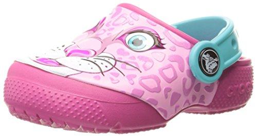 crocs Unisex-Kinder Funlabclogk Clogs, Mehrfarbig (Leopard/Pink), 22-23 EU