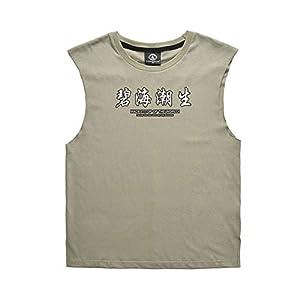 Liebhaber lose ärmelloses T-Shirt, Brief drucken Frauen Männer Baumwolle runden Kragen Weste Liebhaber