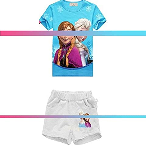 Teenloveme Girls Clothing Summer Set-top Pigiama-tuta-Casual outfit, per bambini