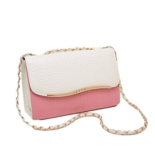 KYFW Womens Fashion Chain Bag Damen Tasche Schulter Oblique Fixed Stereotypen A