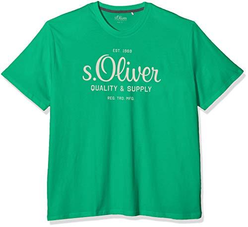 s.Oliver Big Size Herren 15.001.32.5144 T-Shirt, Grün (Apple Green 7602), XXX-Large (Herstellergröße: 3XL)