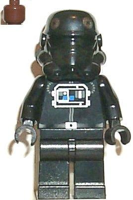 LEGO STAR WARS - SELTENE MINIFIGUR TIE FIGHTER PILOT aus Set 7146