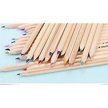 BrillantFarben Wachsmalstifte Buntstifte 12 Premium Pre Sharpened  Farbbleistift Set Zum Zeichnen Von Malvorlagen