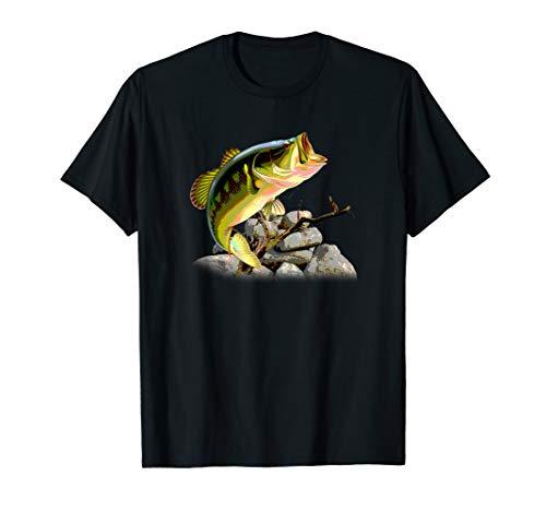 Angler Bass Fishing Angel Angeln T-Shirt Fischen Fisch - Bass-fischen-shirt