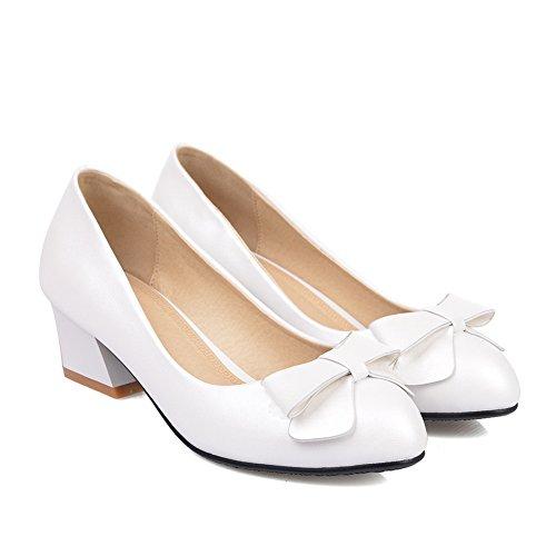 Damen Adee Schuhe Pumpen Weiß Einfach Polyurethan d64rw6q