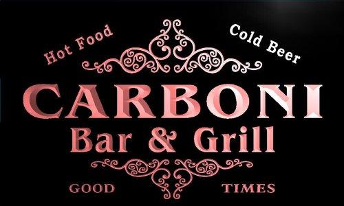 u06959-r CARBONI Family Name Bar & Grill Cold Beer Neon Light Sign Barlicht Neonlicht Lichtwerbung -