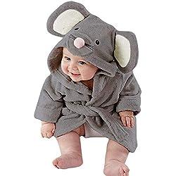 KUKICAT Peignoir Bébé À Capuche, Dessin animé Pyjama Dinosaure Manches Longues Peignoir Animal Mignon Pajamas Clothes