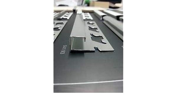 Profilo jolly per piastrelle in alluminio con bordi quadri.: amazon