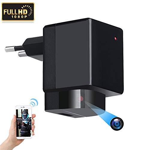 Telecamera spia nascosta, 1080p, spina europea wi-fi hd , obiettivo con rotazione ptz a 180°, registrazione video wireless, rilevamento di movimento, telecamera di sicurezza