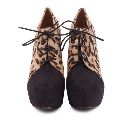 Footwear Sensation ,  Damen Plateau Beige / Black