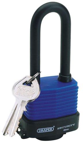Draper 64177 - Candado laminado de acero con horquilla larga y 2 llave