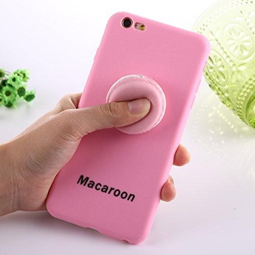 Mobiltelefonhülle - Für iPhone 6 & 6s Macaroon Pattern Squeeze Rebound Squishy Dropproof Schutzmaßnahmen zurück Fall Fall ( Farbe : Rosa ) Rosa