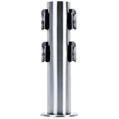 btr-bt1003p-4-borne-lectrique-de-jardin-en-acier-inoxydable-avec-4-prises-protection-ip44-35-cm