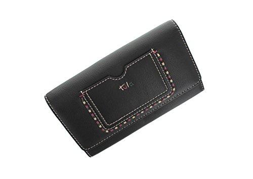 Patta in pelle collezione di Tula MALLORY sopra borsa 7487 Scarlet nero