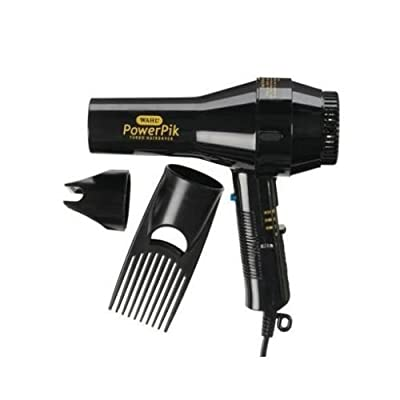 High Quality Wahl Lightweight Powerpik Turbo 1250w Hair Dryer Afro Pik Comb Nozzle by WAHL