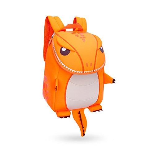 Rucksack Drache (GreenForest Kinderrucksack Dinosaurier Tier Schulrucksack Kinder Schultaschen Niedlich Kindertasche Drache Bestes Geschenk für Jungen 3-8 Jahre Monster (groß, Orange))