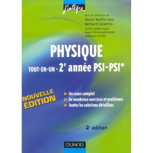 Physique tout-en-un 2e année PSI-PSI* : Cours et exercices corrigés