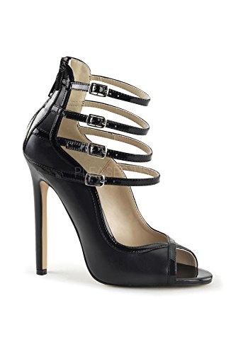 Pleaser SEXY-17 Stiletto Heel, Open-Toe d'Orsay Pumps, Matt-Schwarz, 35-44 Blk Pat-Pu