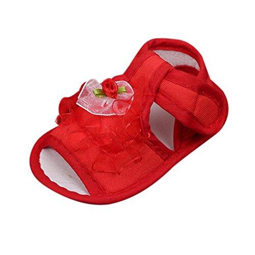 Baby Schuhe, Switchali Neugeborene Anti-Rutsch Kleinkind Prewalker für 0-12 Monat Rot