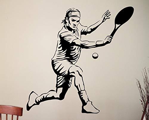 yaonuli Wandaufkleber Tennis benutzerdefinierte wanddekoration Junge Sport Vinyl Kinder wandaufkleber spielzimmer Dekoration 28x37 cm