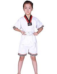 Fuyingda Unisexo Traje de Taekwondo Artes Marciales Kung Fu Uniformes Ropa De Tai Chi Poliéster-