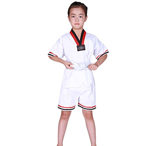 Fuyingda Bequem Kurzarm/Langarm Kampfsportanzug Karate Taekwondo Kung Fu Anzug Kinder und Erwachsene