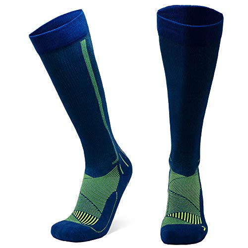DANISH ENDURANCE Graduated Compression Socks 1 pack (Blue, EU 35-38 // UK 3-5)