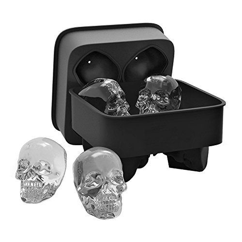 orgrimmar Skull Ice Form einfach Release Silikon Form Süßer und lustiger Ice Skull für Whiskey Cocktails und Saft Getränke (An Spaß Der Halloween-getränke Bar)