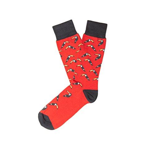Jimmy Lion Herren Socken Toucan, Rot (Red), 41-46