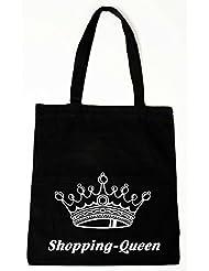 Baumwollbeutel Tasche Bag - Shopping-Queen - witziger Spruch (lange Henkel)