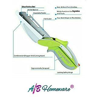 A&B HOMEWARE® Clever Kitchen Smart Cutter 6-in-1 Food Chopper Kitchen Knife and Cutting Board