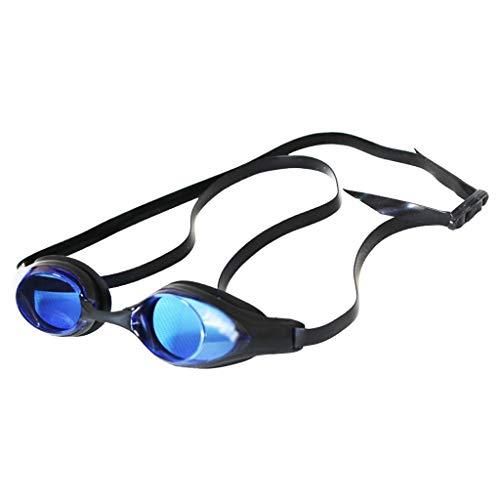 ZTMN Schwimmbrille HD Männer und Frauen Bequeme Brille transparent wasserdicht Anti-Fog Erwachsenen große Vision (Farbe: lila)