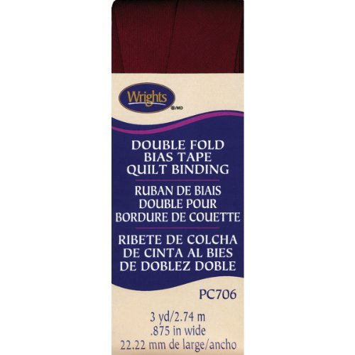 Wrights Double Fold Quilt Binding, 7/8 by 3-Yard, Ox Blood by Wright Products -