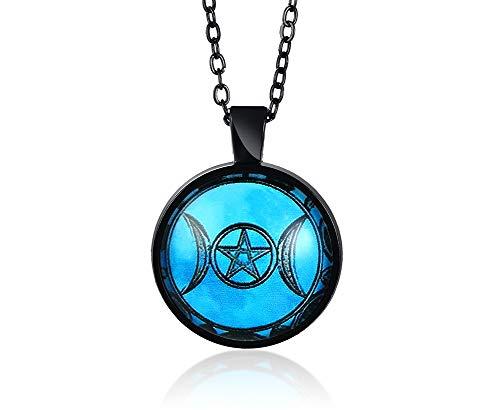 Göttin Baum des Lebens Anhänger Pentagramm Halskette Hexe Wiccans Talisman Anhänger Wiccan Pagan Schmuck Amulett für Männer Frauen ()