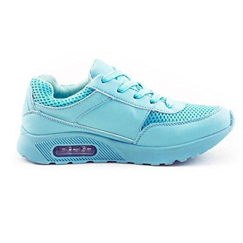 Scarpe Da Corsa Trendy Unisex Da Donna Sneaker Allacciata Sneaker Da Ginnastica Sportiva Full Color Menta Blu