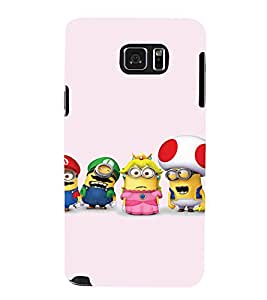 EPICCASE Minion and Friends Mobile Back Case Cover For Samsung Galaxy Note 5 (Designer Case)